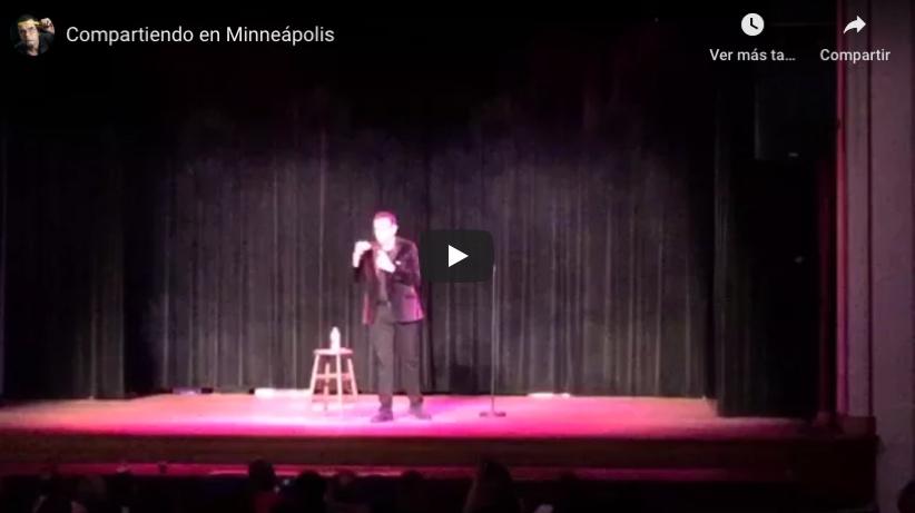Sobre el escenario - Compartiendo en Minneapolis