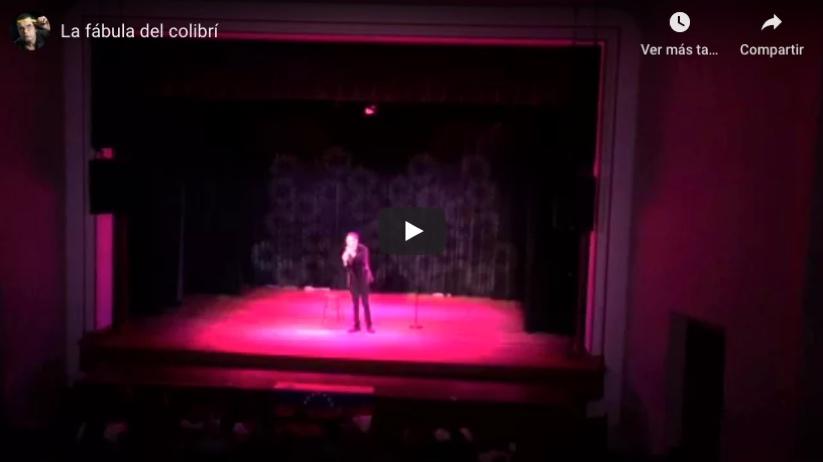 Sobre el escenario - La fábula del Colibrí
