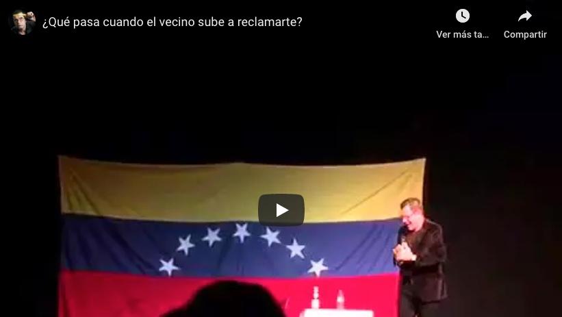 Sobre el escenario - ¿Qué pasa en Venezuela cuando un vecino sube a reclamar?