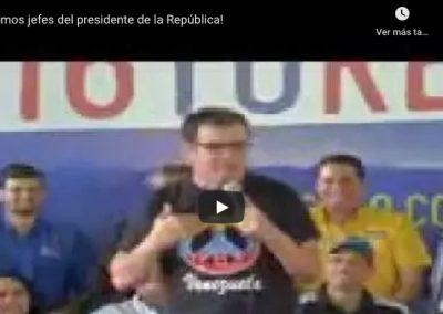 ¡Somos jefes del presidente de la República!