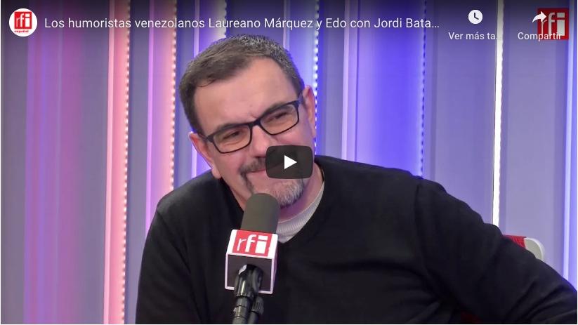 Laureano Márquez y Edo con Jordi Batallé en RFI